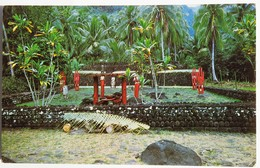 Carte Postale : TAHITI : Le Temple Arahurahu à PAEA - Tahiti