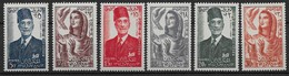 1956 Tunisie N° 420 à 425 Nf** MNH . Autonomie. Sidi Lamine Pacha Bey , Allégorie - Tunisia (1956-...)