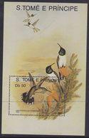 Sao Tome & Principe 1135 -  Hummingbirds 1989 M/S - MNH - Colibrì