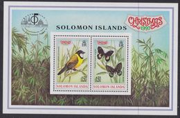 "Solomon Islands 957/58 - International Stamp Exhibition "" Bangkok '97 "" ( Christmas ) 1997 M/S - MNH - Farfalle"