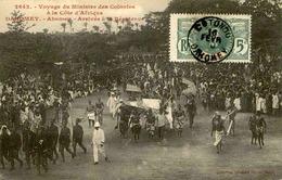 DAHOMEY - Carte Postale - Voyage Du Ministre Des Colonies Au Dahomey,arrivée à Abomey - L 53264 - Dahomey