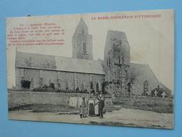 GATTEVILLE  (Manche) -- L'Eglise Et La Vieille Tour - BELLE ANIMATION - Cpa 1907 - Other Municipalities