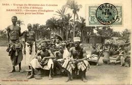 DAHOMEY - Carte Postale - Voyage Du Ministre Des Colonies - Groupes D'Indigènes Pour La Fête - L 53266 - Dahomey