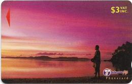 Fiji - Tel. Fiji - Dawn To Dusk - Fisherman At Sunset - 32FIB (Normal 0), 2000, 3$, Used - Fiji