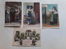 Lot 4 Cartes Alsace Patriotique Amitiés - Souvenir De...