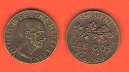 Albania 0,05 LEK  Shqipni 1940 Italian Occupation Colonie Regno D'Italia - Albanie