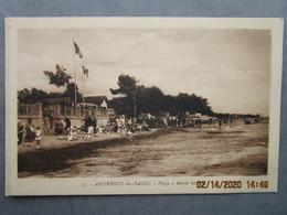 Cpa ANDERNOS Les BAINS - La Plage à Marée Haute  1938 - Andernos-les-Bains