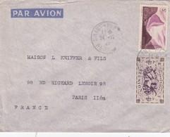 LETTRE REUNION. 24 12 47. LL DAOUDJÉE ST PIERRE  POUR PARIS  / 2 - Covers & Documents