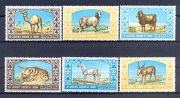 Jordan 1967 - Animals - Stamps 6v - Complete Set - MNH**- Excellent Quality - Jordanien