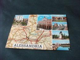 CARTA GEOGRAFICA ALESSANDRIA E VEDUTE - Carte Geografiche
