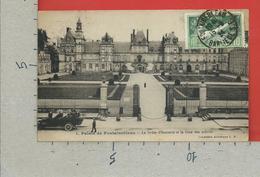 CARTOLINA VG FRANCIA - Palais De FONTAINEBLEAU - La Grille D'Honeur Et La Cour Des Adieux - 9 X 14 - 1924 OLIMPIADI - Fontainebleau