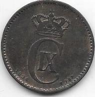 *Denmark 2 Ore  1894  Km 793.2  Vf - Danimarca