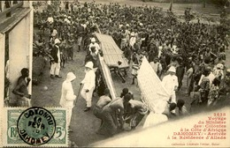 DAHOMEY - Carte Postale - Voyage Du Ministre Des Colonies à La Résidence D'Allada - L 53278 - Dahomey