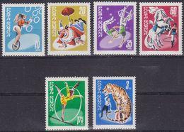 Romania 2777/82 - Circus 1969 - MNH - Circo