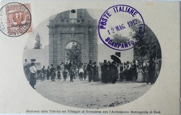 Rodi 04 - Grecia - Rodi - Rhodos - Madonna Della Vittoria Nel Villaggio Di Kremastos Con L'Arcivescovo Metropolita- 1912 - Grecia