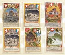 Bern - Luzern (2x)- Frauenfeld - Wildkirchli - Rheinfall, 6 Etiketten - Erinnophilie