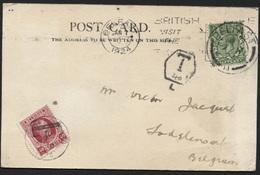 TAXATION Houyoux 40c Obl. LODELINSART S/CP Belfast Irlande 1924. - 1922-1927 Houyoux