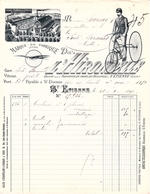 SAINT-ETIENNE 42 -  FACTURE Et Sa TRAITE L'HIRONDELLE 1892 Socièté Pour La Fabrication En France Des Vélocipèdes - 1800 – 1899