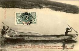 """DAHOMEY - Carte Postale - Visite Du Ministre Des Colonies - Sur La Lagune """"A Toute Vitesse"""" - L 53289 - Dahomey"""