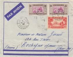 LETTRE AOF. 9 AVRIL 36. PAR AVION. 6,50Fr. ST LOUIS SENEGAL POUR ROCHEFORT  / 2 - A.O.F. (1934-1959)