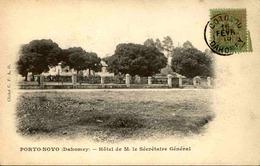 DAHOMEY - Carte Postale - Porto Novo - Hôtel De M. Le Secrétaire Général - L 53299 - Dahomey