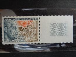 COMORES 1972 Y&T N° 79 ** - SESQUICENTENAIRE NAISSANCE LOUIS PASTEUR - Neufs