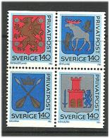 Sweden 1981 Discount Stamps Mi  1145-1148 Bloc MNH(**) - Ongebruikt