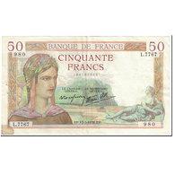 France, 50 Francs, Cérès, 1938, 1938-03-17, TB, Fayette:18.10, KM:85b - 1871-1952 Anciens Francs Circulés Au XXème
