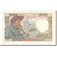 France, 50 Francs, Jacques Coeur, 1941, 1941-04-24, TTB, Fayette:19.9, KM:93 - 1871-1952 Anciens Francs Circulés Au XXème