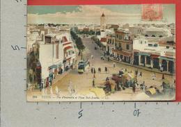 CARTOLINA VG TUNISIA - TUNIS - Vue D'ensemble Et Place Bab Souika - 9 X 14 - 1919 - Tunisia