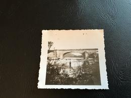 PHOTO - AIN 1933-34 NEUVILLE SUR AIN Le Pont - Orte