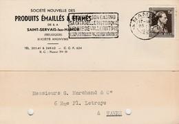 Saint Servais Lez Namur , Carte Publicité , Produits émaillés & étampés - Namur