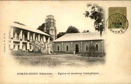DAHOMEY - Carte Postale - Porto Novo - Eglise Et Mission Catholique - L 53305 - Dahomey