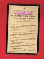 Avis De Décès  Titre De Noblesse Mme De COETNEMPREN De KERSAINT Marquise Douairière DE ROBIEN 1893 - Décès