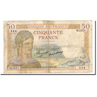 France, 50 Francs, Cérès, 1937, 1937-02-11, TB, Fayette:17,34, KM:81 - 1871-1952 Anciens Francs Circulés Au XXème