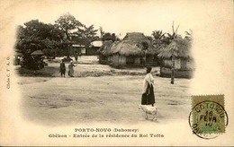 DAHOMEY - Carte Postale - Gbêkon - Entrée De La Résidence Du Roi Toffa - L 53307 - Dahomey