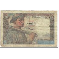 France, 10 Francs, Mineur, 1949, 1949-04-07, B, Fayette:8.21, KM:99f - 10 F 1941-1949 ''Mineur''