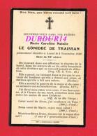 Avis De Décès  Titre De Noblesse Mme LE GONIDEC DE TRAISSAN Laval 1930 - Décès