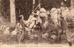 PONTARLIER - Une Attaque à La Frontière Franco-Suisse. Edition Faivre-Locca. Circulée En 1928. 2 Scan - Pontarlier