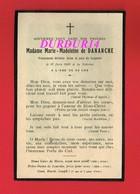 Avis De Décès  Titre De Noblesse Mme Marie Madeleine De DANANCHE 1920 à La Sidoine - Décès