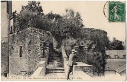 CPA 53 - LAVAL (Mayenne) - 99. La Tour Renaise Et Le Chemin De Ronde - ND Phot (petite Animation) - Laval