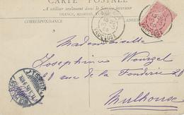 TARIF Pour L'étranger Semeuse N°129 Avignon 10 Mars 1905 Pour Mulhouse 11 Mars 1905 - CP Avignon - Posttarife