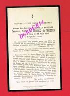 Avis De Décès  Titre De Noblesse Mme Marie QUILLEL De FONTAINE Comtesse Charles Le GONIDEC De TRAISSAN - Décès