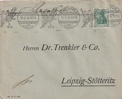"""Deutsches Reich / 1914 / Masch.-Stempel """"Weltausstellung Fuer Buchgewerbe Und Graphik"""" Auf Brief (AD95) - Allemagne"""