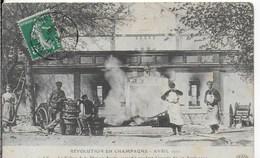 51-1- AY - REVOLUTION EN CHAMPAGNE - AVRIL 1911- CELLIER DE LA MAISON AYOLA INCENDIE LE 12/04/1911 - Ay En Champagne