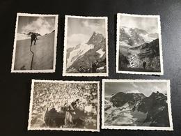 Set De 5 PHOTOS - HAUTES ALPES 1933 - Ascension De LA MEIJE Et Du RATEAU - Luoghi