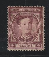 Spanien / 1876 / Mi. 163 O (AE07) - Gebraucht