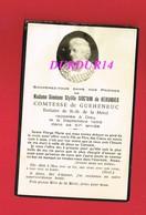 Avis De Décès  Titre De Noblesse Mme Siméone Stylite SIOC'HAN DE KERSABIEC Comtesse DE GUEHENEUC - Décès