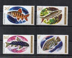 RWANDA - 1973 - Tematica Animali - PESCI - 4 Valori - Nuovi ** - (FDC20035) - Rwanda