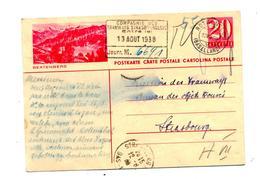 Carte Postale 20 Cachet Rothenfluh Illustré Beatenberg - Interi Postali